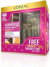 L'Oreal Paris Casting Creme Gloss Hair Color,400 Dark Brown with Makeup Brushes