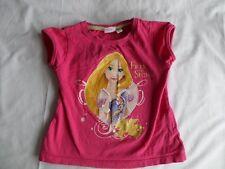 Disney Princess Girls Pink Short Sleeve 100% Cotton Tops Size 4 Years