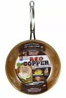 """Telebrands Red Copper 12"""" inch Frying Pan As Seen On TV Ultra Tough Ceramic"""