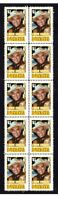 BONANZA TV STAR LORNE GREENE STRIP OF 10 MINT VIGNETTE STAMPS 5