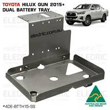 Dual Battery Tray Toyota Hilux 2015+ GUN N80 Stainless Steel 4WD 4x4 - BTTH15-SS