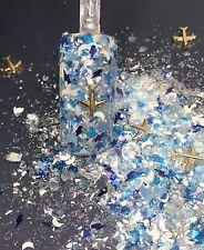 glitter mix acrylic gel nail art    TAKE ME AWAY