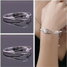 New fashion jewelry solid 925 Sterling SILVER Bracelet/bangle Fine Gift