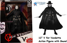 V for Vendetta 12in Action Figure with SOUND NECA Toys