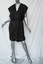 DOO.RI Black SILK Draped Origami-Fold Layered Dress LBD *Beautiful* 8 NEW