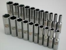 """NEW Craftsman 21pc 1/4"""" Metric/mm SAE Deep Dual Marked Laser Socket Wrench Set"""