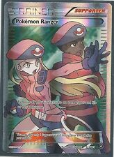 POKEMON RANGER 113/114-XY Steam Siege Pokemon Card FULL ART ULTRA RARE HOLO MINT