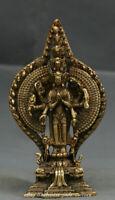 Tibet Copper Bronze 1000 Arms Avalokiteshvara of Goddess Kwan Yin Buddha Statue