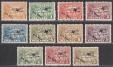 New Guinea 1931 KGV Native Village Airmail Overprint Set to 5sh Mint SG137-147