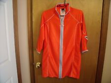 Nike womenTraining Biking jacket-sm. Orange,mesh Zip front Long Reflective strip