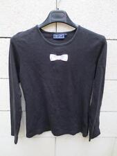 T-shirt EDEN PARK Club House femme noir 2 logo brodé manches longues