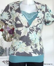 NOA NOA Bluse blouse Carlsson Quilt M 38 Blumen flower neu antique Stickereien