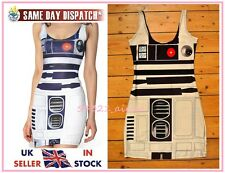 R2D2 Star Wars Bodycon Dress Milk Artoo 2.0 Black Red Eye Cosplay Fancy 8 10 12