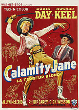 Calamity Jane VINTAGE MOVIE POSTER A3 RISTAMPA
