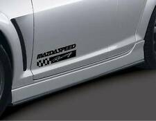 MAZDA RACING 2 3 5 7 RX7 RX8 Miata Mazdaspeed Decal sticker emblem logo BLK Pair