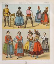 Spanien Kostüm Tracht  Kastilien Leon Santander Burgos Santa Maria Nueva Segovia