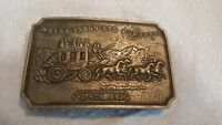 Vintage Wells Fargo and Company Since 1852 Advertising Belt Buckle