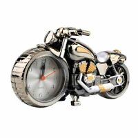 Vintage Motorcycle Bike Clock Alarm Desk Decor Home Office Room Display Gift