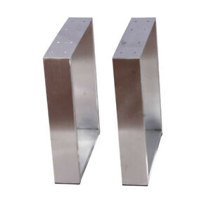 """Heavy Duty Stainless Metal Table Legs 16"""" Inch U Shape for Coffee Table Desk 2PC"""