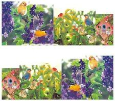 Nail Art Decals Transfers Stickers Birds Flowers (A-1016)