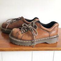 Dr Doc Martens 10940 Air Wair Men's 7 Womens 8 Brown Leather Oxfords Shoes EU 39