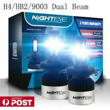 NIGHTEYE H4 HB2 9003 LED Headlight Kit Light Bulbs High/Low 72W 9000LM/Set White