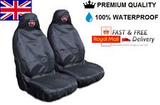 Fiat 500 Premium Protectores De cubiertas de asiento de coche 100% A Prueba De Agua/Negro