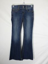 NEW American Eagle Womens Jeans Size 0 (27x29.5) Artist Super Stretch Flare Dark