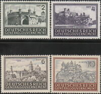 Stamp Germany Poland General Gov't Mi 113-6 Sc N100-3 1943 WWII War Castle MNG