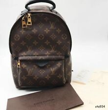 Louis Vuitton New Palm Springs Medium Leather Monogram Backpack Bag Mochila