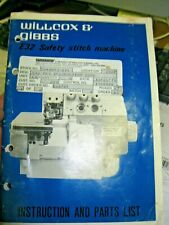 Wilcox and Gibbs e32 safety stitch machine instruction manual