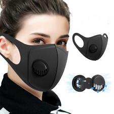 Unisex Face Mask Washable Reusable Masks Protection Cover Black Adult UK SELLER