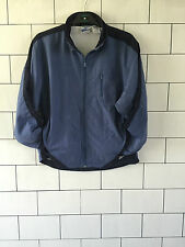 WOMENS URBAN VINTAGE RETRO 90'S BLUE REEBOK NYLON WINDBREAKER JACKET SIZE UK 14