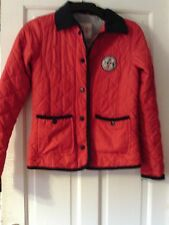 RED QUILTED JACKET, AGED 14-15