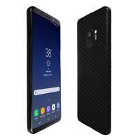 Skinomi Black Carbon Fiber Skin+Clear Screen Protector For Samsung Galaxy S9