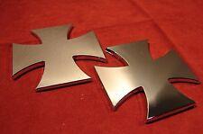 CHRISTIAN CROSSES MALTESE 3D EMBLEM BADGE DECAL STICKER FOR CARS (SET OF 2)
