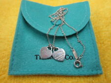 Tiffany & Co Silver Heart Necklace 'PLEASE RETURN TO TIFFANY & CO NEW YORK