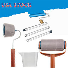 Wall Decor Paint Roller Brush Handle Pro Flocked Edger Room Wall Painting Runner