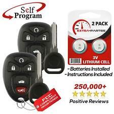 2 For 2006 2007 2008 2009 2010 2011 2012 2013 Chevrolet Impala Remote Fob + Key