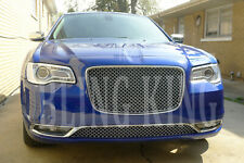 Fits 2015-2020 Chrysler 300 Chrome Mesh Grill Upper and Lower Bentley Grille 2pc