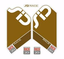 Rock Shox SID Race  Mountain Bike Cycling Factory Style Decal Kit Sticker Gold