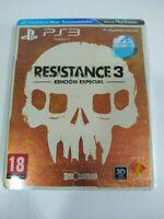 Resistance 3 Edicion Especial Steelbook - Juego PlayStation 3 PS3 Sony - 3T