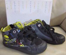 GEOX J Kiwi B.I J64A7I 0AU54 C0054 Black Boots boys size 10.5 us