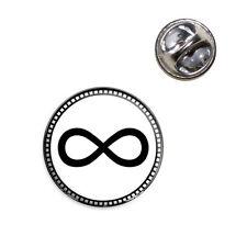 Infinity Symbol Lapel Hat Tie Pin Tack