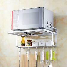 UK Hanging Microwave Oven Stand Storage Rack Shelf Space Saving Kitchen Bracket