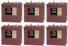6 Volt Golf Cart Batteries - Trojan Battery T-105 6V/225Ah (6 Pack, 36V)