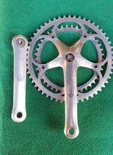Campagnolo corsa C-record.Guarnitura corsa alluminio.Bici epoca vintage 53-42