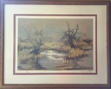 Pierre Letellier Framed Art Landscape Lithograph Original Print Signed Numbered