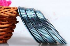 G: 2PCSLIGHT BLUE Rolls Striping Tape Line Nail Tips Sticker DIY w/Free Gift