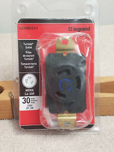 NEW Legrand L630RCCV3 Industrial Grade Turn Lock 30 AMP Plug 250Vac